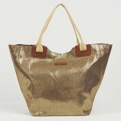 Ψάθινη Τσάντα Θαλάσσης Pierre Cardin Β955-1 Χρυσό