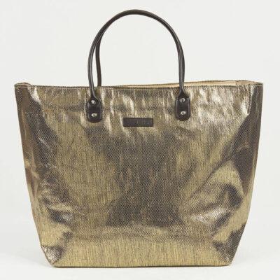 Μεγάλη-Τσάντα-Θαλλάσης-Pierre-Cardin-Χρυσό-Μαύρο
