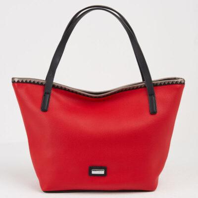 Τσάντα-Ώμου-Μεγάλη-Tote-Pierre-Cardin-Eva-Κόκκινο