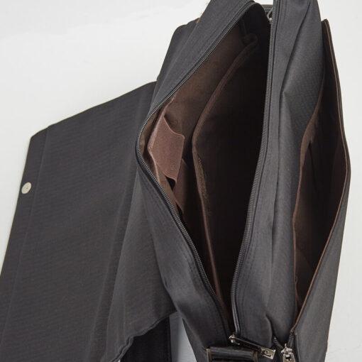 Τσάντα-Ταχυδρόμου-Υφασμάτινη-Pierre-Cardin-Μαύρο-