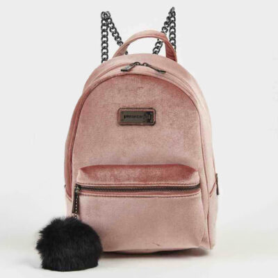 Backpack-Pierre-Cardin-Amy-Velour-Pink