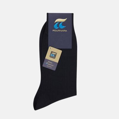 Κλασσική Βαμβακερή Κάλτσα Πουρνάρα 110 Μαύρο