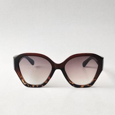 Κοκκάλινα Γυαλιά Ηλίου Oversize Καφέ-Ταρταρούγα