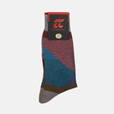 Βαμβακερές Κάλτσες Πουρνάρα Με Σχέδιο 3666-3 Πολύχρωμη