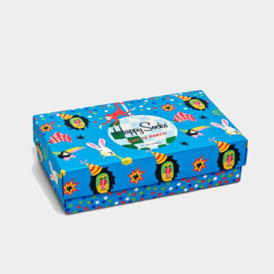 Happy Socks Happy Birthday Party Animal Gift Box XBPA08 Πολύχρωμο