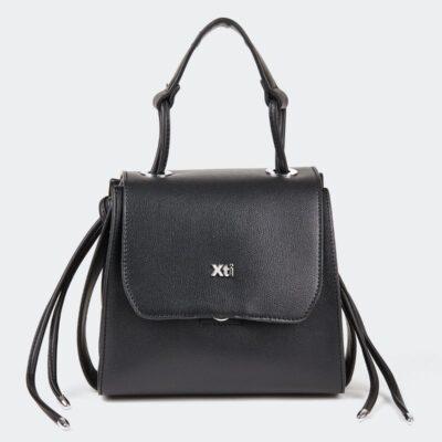 Τσάντα Χειρός Με Κούμπωμα XTI 86289 Μαύρο