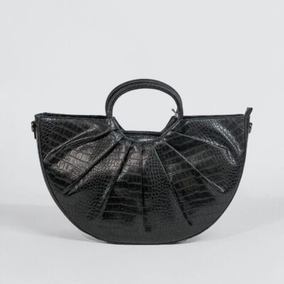 Τσάντα Χειρός Με Στάμπα Φιδιού PF638 Μαύρο