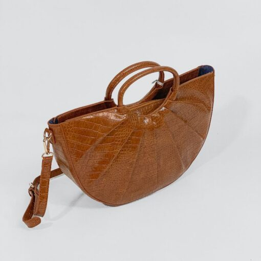 Τσάντα Χειρός Με Στάμπα Φιδιού PF638 Ταμπά
