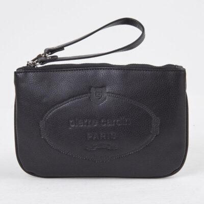 Τσαντάκι Με Λογότυπο Pierre Cardin Vintage Line Large Μαύρο