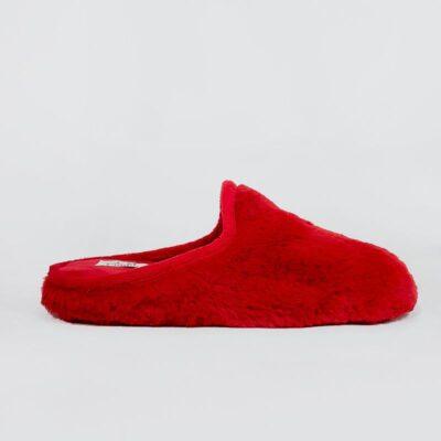 Γυναικεία Γούνινη Παντόφλα C69 Κόκκινο