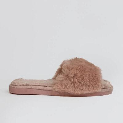 Γυναικεία Γούνινη Παντόφλα Fluffy Cloud ST0270 Ροζ