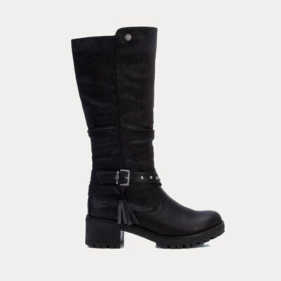Δερμάτινη Μπότα Με Φερμουάρ Refresh 72395 Μαύρο