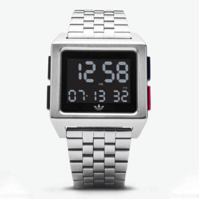Ψηφιακό Ρολόι Adidas Archive M1 Z01 Ασημί
