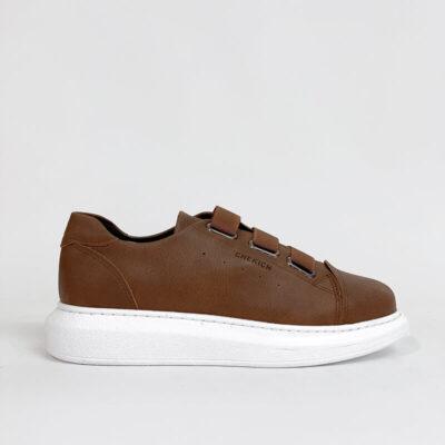 Casual Sneaker Με Χοντρή Σόλα CH253 Ταμπά