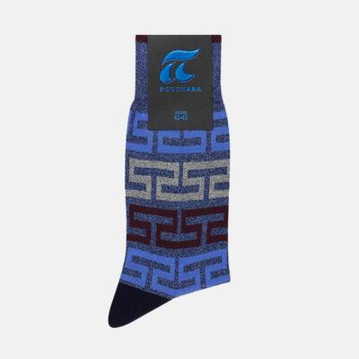 Βαμβακερές Κάλτσες Πουρνάρα Μαίανδρος 3685-3 Μπλε