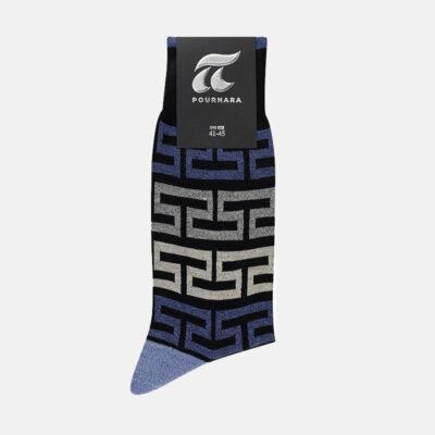 Βαμβακερές Κάλτσες Πουρνάρα Μαίανδρος 3685-4 Μαύρο