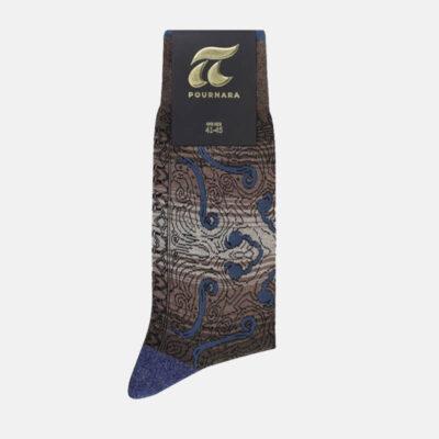 Βαμβακερές Κάλτσες Πουρνάρα Με Λαχούρια 3686-2 Καφέ