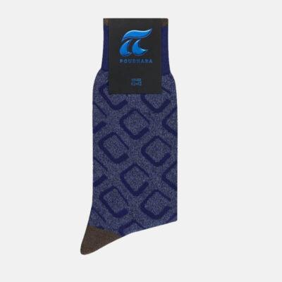 Βαμβακερές Κάλτσες Πουρνάρα Με Ρόμβους 3682-1 Μπλε