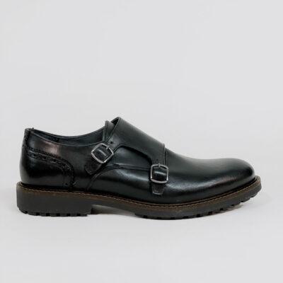 Δερμάτινο Παπούτσι Made In Italy DF100 Μαύρο