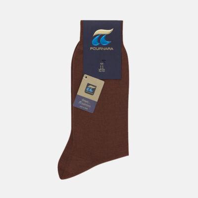 Κλασσική Βαμβακερή Κάλτσα Πουρνάρα 110-80 Ταμπά