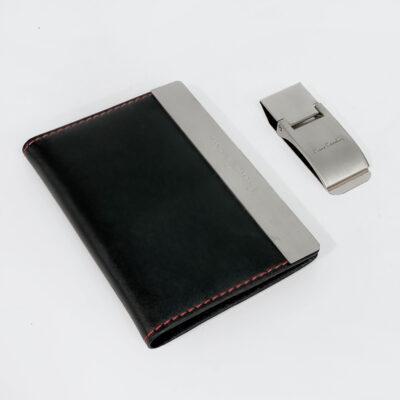 Σετ Δώρου Καρτοθήκη και Money Clip Pierre Gardin PCS-004 Μαύρο Ασημί