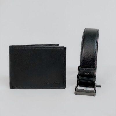Σετ Δώρου Πορτοφόλι-Ζώνη Pierre Cardin Μαύρο