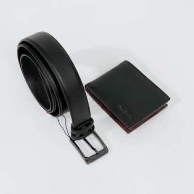 Σετ Δώρου Πορτοφόλι-Ζώνη Pierre Cardin MPRGS57 Μαύρο