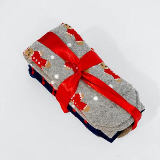Σετ Δώρου Χριστουγεννιάτικες Κάλτσες 1750045 Πολύχρωμο