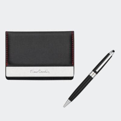Σετ Καρτοθήκη Πολυτελείας Με Στυλό Pierre Gardin PCS-001 Μαύρο