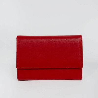 Δερμάτινο Πορτοφόλι Με Κούμπωμα 525 Κόκκινο
