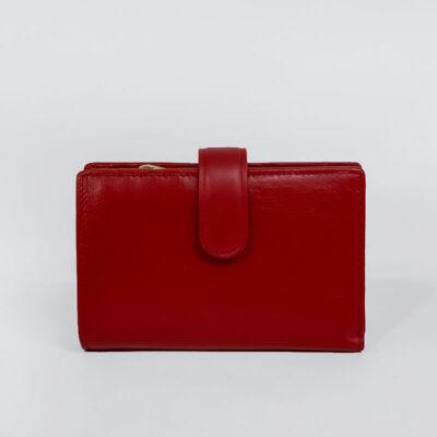 Δερμάτινο Πορτοφόλι Με Κούμπωμα 791 Κόκκινο