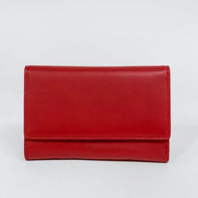 Δερμάτινο Πορτοφόλι Με Κούμπωμα 907 Κόκκινο