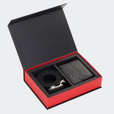 Δερμάτινο Σετ Δώρου Πορτοφόλι - Ζώνη Pierre Cardin PCL045R4 Μαύρο