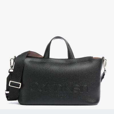 Τσάντα Χειρός Calvin Klein K60K607158-BAX Μαύρο