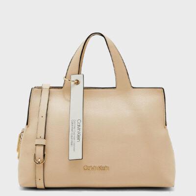 Τσάντα Χειρός Calvin Klein Neat Tote K60K605059-064 Μπεζ
