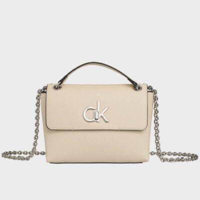 Τσάντα Χιαστί Calvin Klein Re-lock K60K606335-TD1 Μπεζ