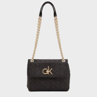 Τσάντα Χιαστί Calvin Klein Re-lock K60K606782-0GS Μαύρο