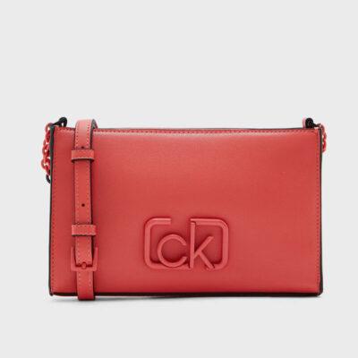 Τσαντάκι Χιαστί Calvin Klein Signature Ew K60K606504-XA4 Κοραλί
