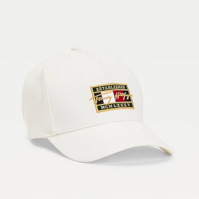 Καπέλο Tommy Hilfiger TH Patch Signature AM0AM07387-YBI Άσπρο