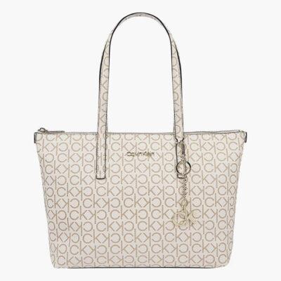 Τσάντα Ώμου Calvin Klein Md Monogram K60K608101-0K9 Μπεζ