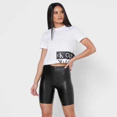 Boxy T-shirt Calvin Klein Jeans J20J215324-YAF Άσπρο