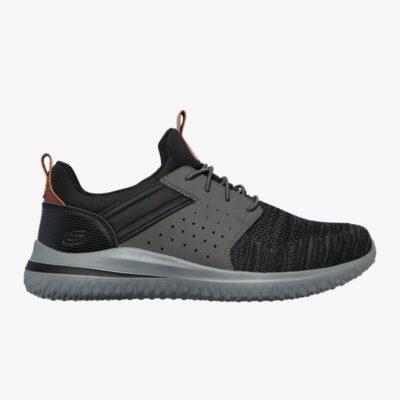 Sneaker Skechers Delson 3.0 Cicada 210238-BKGY Μαύρο Γκρι
