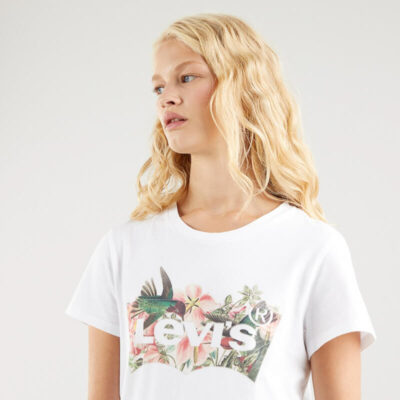 T-shirt Levi's The Perfect Tee Batwing 17369-1265 Άσπρο