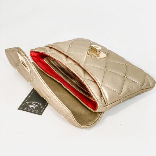 Καπιτονέ Τσαντάκι Beverly Hills Polo Club BH-2404 Χρυσό (4)