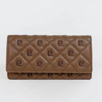 Μεγάλο Πορτοφόλι Με Λογότυπο Pierre Cardin 8671 Καφέ