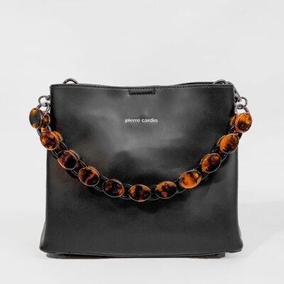 Τσάντα Ώμου Με Αλυσίδα Pierre Cardin 191012 Μαύρο