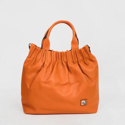 Τσάντα Χειρός Με Σούρα Pierre Cardin 3343 Πορτοκαλί