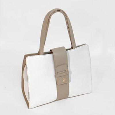 Τσάντα Χειρός Beverly Hills Polo Club BH-2450 Panna Άσπρο (2)