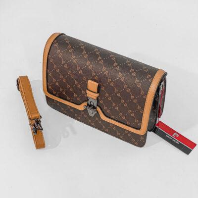 Τσάντα Χιαστί Με Λογότυπο Pierre Cardin 20752 Καφέ