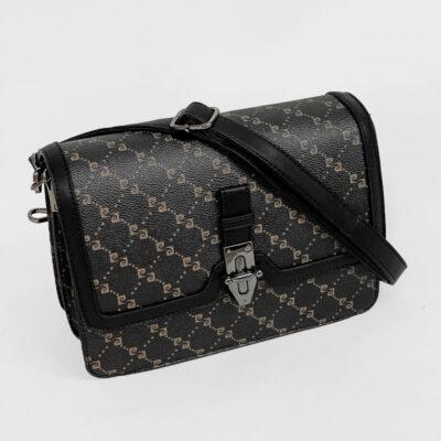 Τσάντα Χιαστί Με Λογότυπο Pierre Cardin 20752 Μαύρο